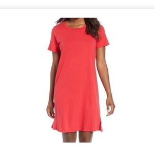 🌂 Bobeau red cotton knit dress NWT